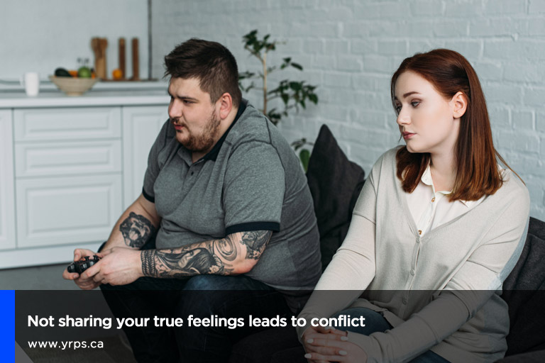 Not sharing your true feelings leads to conflict