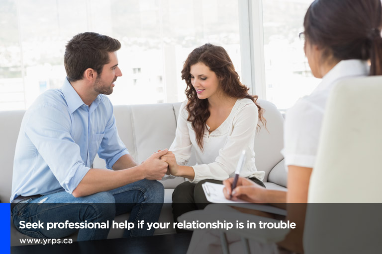 Seek professional help if your relationship is in trouble