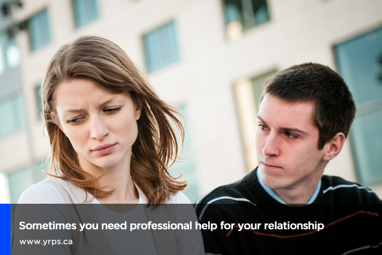 Sometimes you need professional help for your relationship