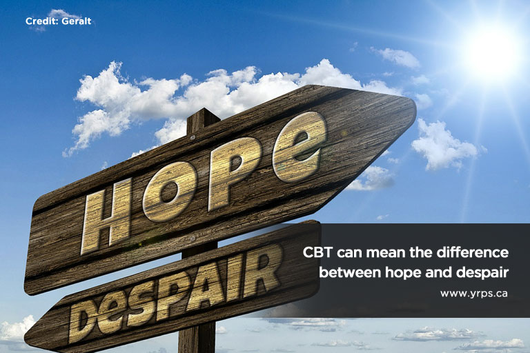 CBT can mean the difference between hope and despair