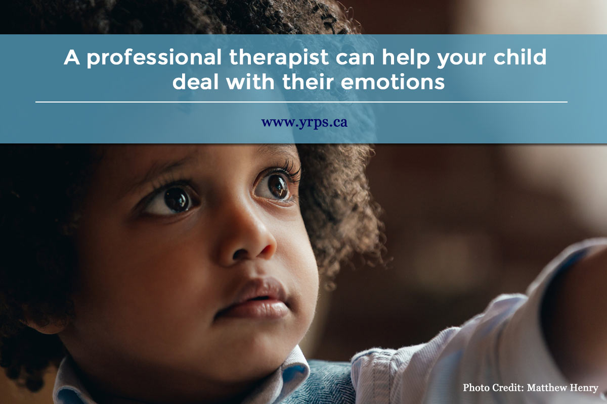 A professional therapist can help your child deal with their emotions