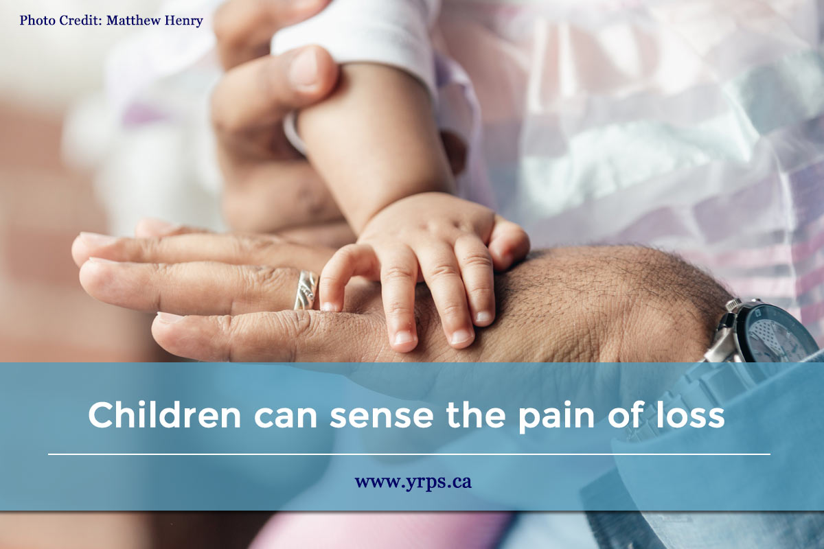 Children can sense the pain of loss