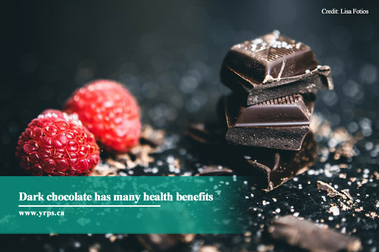 Dark chocolate has many health benefits